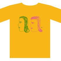 KIM HIORTHOY(女性横顔2つ) [t-shirts]